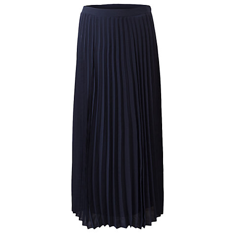 Buy East Sunray Pleated Skirt, Navy Online at johnlewis.com