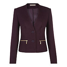 Buy Planet Plum Boucle Jacket, Purple Online at johnlewis.com