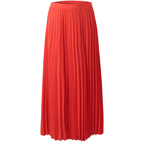 Buy East Sunray Pleated Skirt, Mandarin Online at johnlewis.com