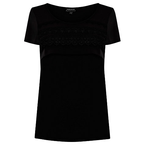 Buy Warehouse Lace Trim Tee Online at johnlewis.com