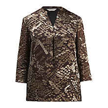 Buy Windsmoor Devore Tunic Top, Brown Online at johnlewis.com