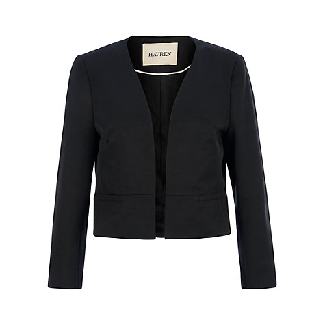 Buy Havren Cropped Jacket, Black Online at johnlewis.com