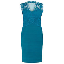 Buy Alexon Lace Ottoman Dress, Blue Online at johnlewis.com