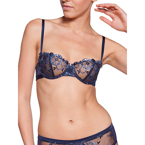 Buy Chantelle Palais Royal Half Cup Bra, Blue Online at johnlewis.com