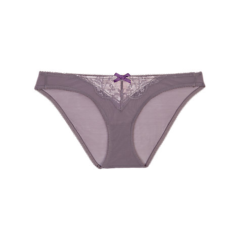 Buy Elle Macpherson Intimates Gentle Jade Lace Briefs, Grey/Rose Online at johnlewis.com