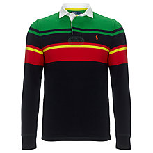 Buy Polo Ralph Lauren Multi-Tone Rugby Top, Navy/Green/Red Online at johnlewis.com
