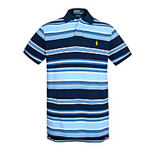 Buy Polo Ralph Lauren Striped Custom Fit Polo Top Online at johnlewis.com