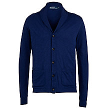 Buy Polo Ralph Lauren Jersey Cardigan, Luxury Blue Online at johnlewis.com