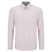 Buy Tommy Hilfiger Austin Check Shirt, Loganberry/ Poppy Red Online at johnlewis.com