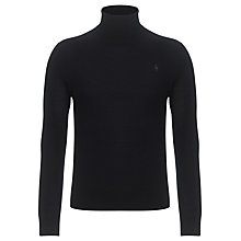 Buy Polo Ralph Lauren Merino Wool Roll Neck Jumper, Hunter Navy Online at johnlewis.com
