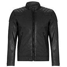Buy Diesel Laleta Leather Jacket, Black Online at johnlewis.com