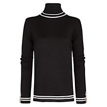 Buy Mango Contrast Trim Jumper, Black Online at johnlewis.com