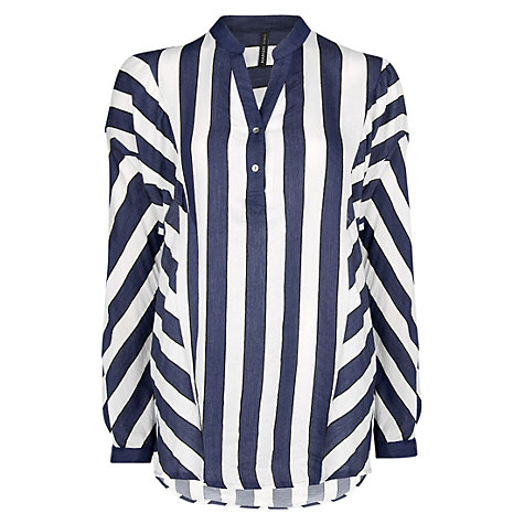 Buy Mango Dolman Sleeve Blouse, Navy Online at johnlewis.com