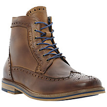 Buy Bertie Cambridge Heath Leather Brogue Boots, Tan Online at johnlewis.com