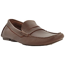 Buy Dune Benny Leather Driver Saddle Loafers, Tan Online at johnlewis.com