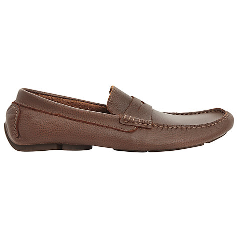 Buy Dune Benny Leather Driver Saddle Loafers Online at johnlewis.com