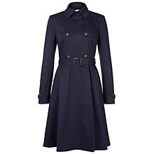Buy NW3 by Hobbs Skirted Trench Coat, French Navy Online at johnlewis.com