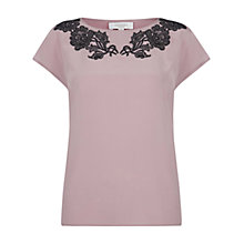 Buy Hobbs Invitation Ashworth Top, Lupin Black Online at johnlewis.com