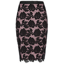 Buy Hobbs Invitation Ashworth Pencil Skirt, Lupin Black Online at johnlewis.com