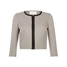 Buy Hobbs Belsize Jacket, Oyster Black Online at johnlewis.com