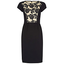 Buy Hobbs Invitation Ashworth Dress,Oyster Black Online at johnlewis.com