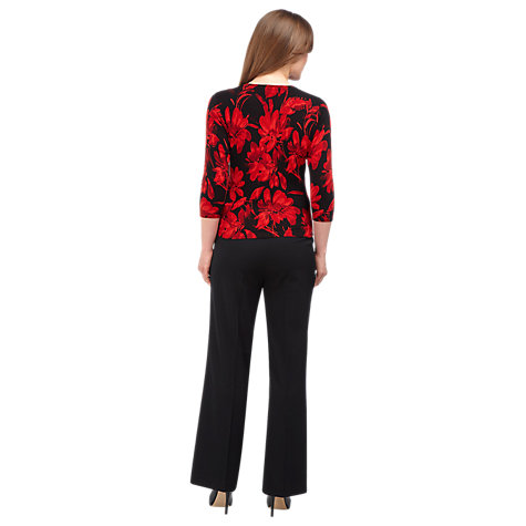 Buy Precis Petite Loose Flared Leg Trousers, Black Online at johnlewis.com