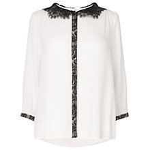 Buy Phase Eight Diana Lace Blouse, Black/Ivory Online at johnlewis.com