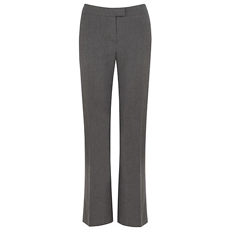Buy Planet Straight Leg Trousers, Charcoal Online at johnlewis.com