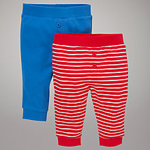 Buy John Lewis Stripe and Plain Joggers, Pack of 2 Online at johnlewis.com