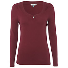 Buy White Stuff Michelle Long Sleeve Top, Cherry Online at johnlewis.com