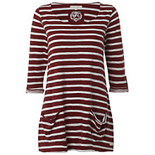 Buy White Stuff Ritual Stripe T-shirt, Cherry Online at johnlewis.com