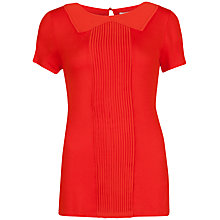 Buy Ted Baker Ohalla Pin Tuck Top, Dark Orange Online at johnlewis.com