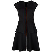 Buy Ted Baker Catelin Peplum Layer Dress, Black Online at johnlewis.com
