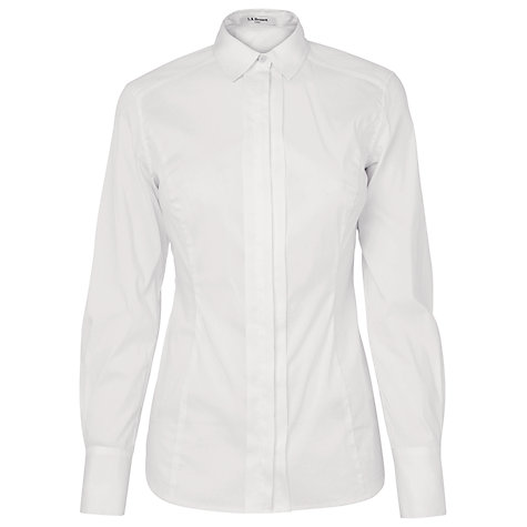 Buy L.K. Bennett Iole Shirt, White Online at johnlewis.com