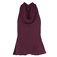 Buy Warehouse Cowl Halter Top, Purple Online at johnlewis.com