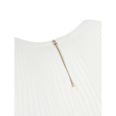 Buy Ted Baker Edithh Long Sleeve Pleated Dress, White Online at johnlewis.com
