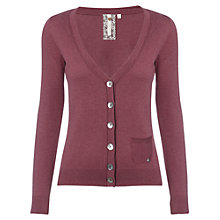 Buy White Stuff Long Sleeve Coco Cardigan, Cherry Online at johnlewis.com