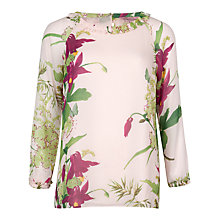 Buy Ted Baker Rosiye Printed Floral Top, Light Pink Online at johnlewis.com