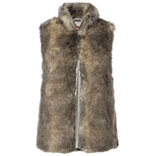 Buy White Stuff Pippa Faux Fur Gilet, Brown Online at johnlewis.com