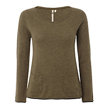 Buy White Stuff Plain Talkin' Knit Jumper, Light Bottleglass Green Online at johnlewis.com