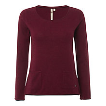 Buy White Stuff Plain Talkin' Knit Jumper, Cherry Red Online at johnlewis.com