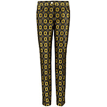 Buy Ted Baker Corrnat Geometric Print Suit Trousers, Blue/Yellow Online at johnlewis.com