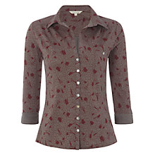 Buy White Stuff Ditsy Shirt, Smokey Grey Online at johnlewis.com