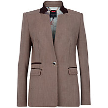 Buy Ted Baker Erui High Collar Blazer, Oxblood Online at johnlewis.com