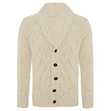 Buy JOHN LEWIS & Co. Made in Italy Nep Shawl Neck Cardigan, Natural Online at johnlewis.com