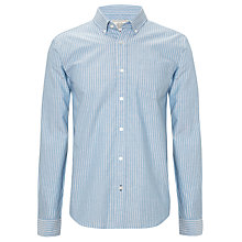 Buy John Lewis Classic Stripe Oxford Long Sleeve Shirt, Blue Online at johnlewis.com