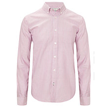 Buy John Lewis Classic Stripe Oxford Long Sleeve Shirt, Pink Online at johnlewis.com