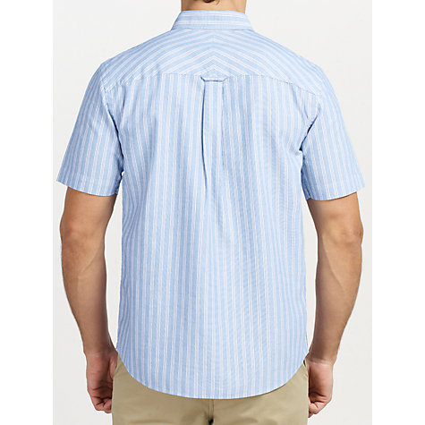 Buy John Lewis Short Sleeve Track Stripe Oxford Shirt Online at johnlewis.com