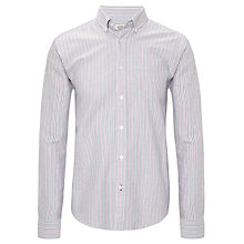 Buy John Lewis Oxford Stripe Long Sleeve Shirt, Pink Online at johnlewis.com