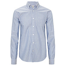 Buy John Lewis Classic Stripe Oxford Long Sleeve Shirt, Cobalt Online at johnlewis.com